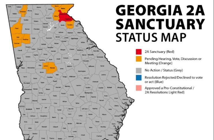 Georgia Map - Second Amendment Sanctuary Counties
