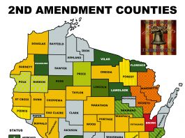 Wisconsin GrandSons of Liberty 2A Sanctuary Counties map update