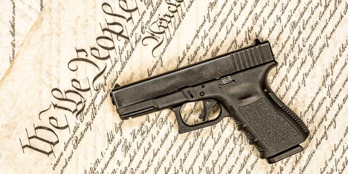 Picture of a Glock and the Constitution