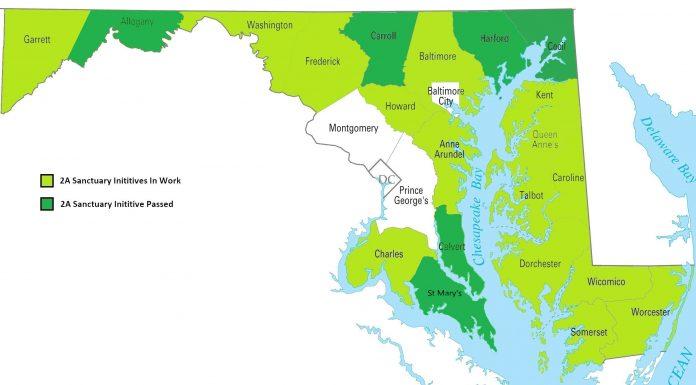 Maryland Second Amendment Sanctuary Map