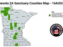 Minnesota 2A Sanctuary Counties Map