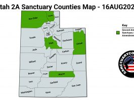 Utah 2A Sanctuary Counties Map