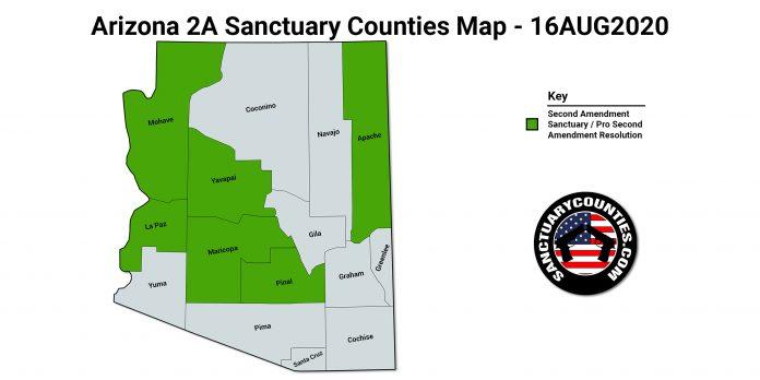 Arizona 2A Sanctuary Counties Map