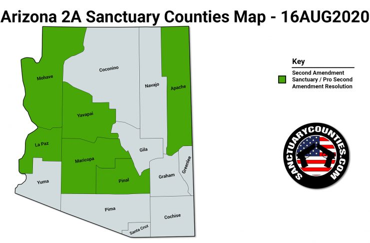Arizona 2A Sanctuary Counties Map
