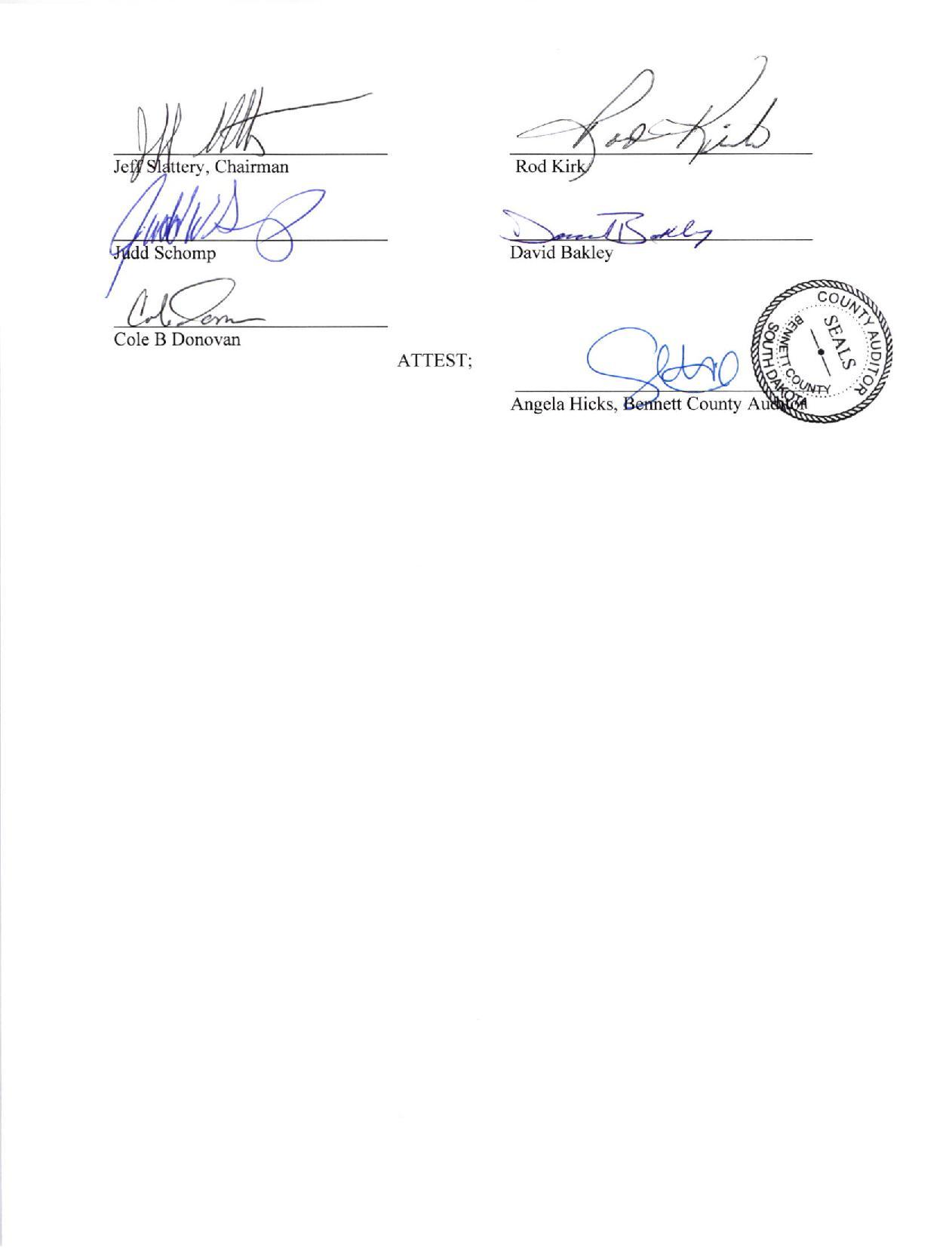 Bennett County South Dakota Sanctuary Resolution page 2