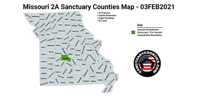 Missouri Second Amendment Sanctuary Map