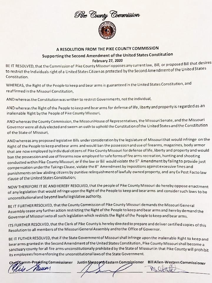 Pike County Pro-Second Amendment Resolution