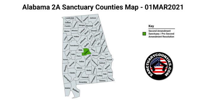 Alabama Second Amendment Sanctuary Map