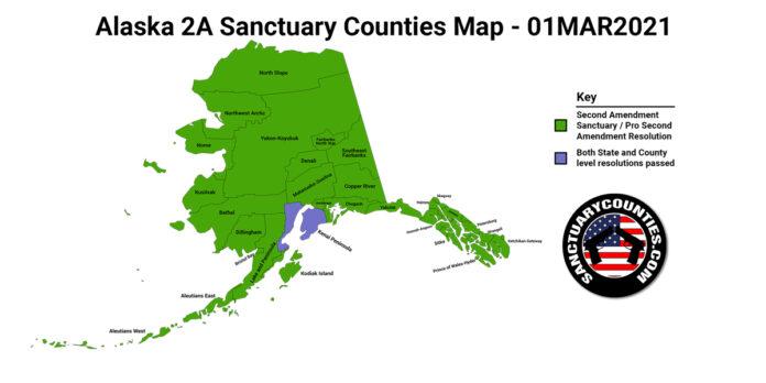 Alaska Second Amendment Sanctuary State Map