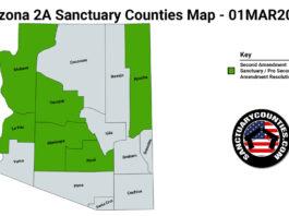 Arizona Second Amendment Sanctuary State Map