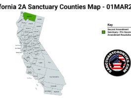 California Second Amendment Sanctuary State Map