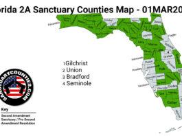 Florida Second Amendment Sanctuary State Map
