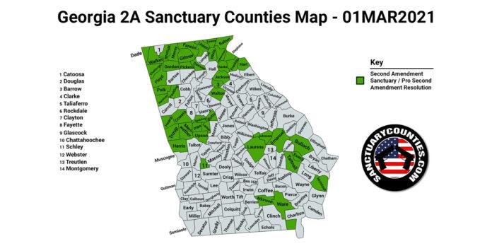 Georgia Second Amendment Sanctuary State Map