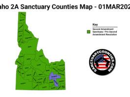 Idaho Second Amendment Sanctuary State Map