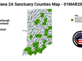 Indiana Second Amendment Sanctuary State Map