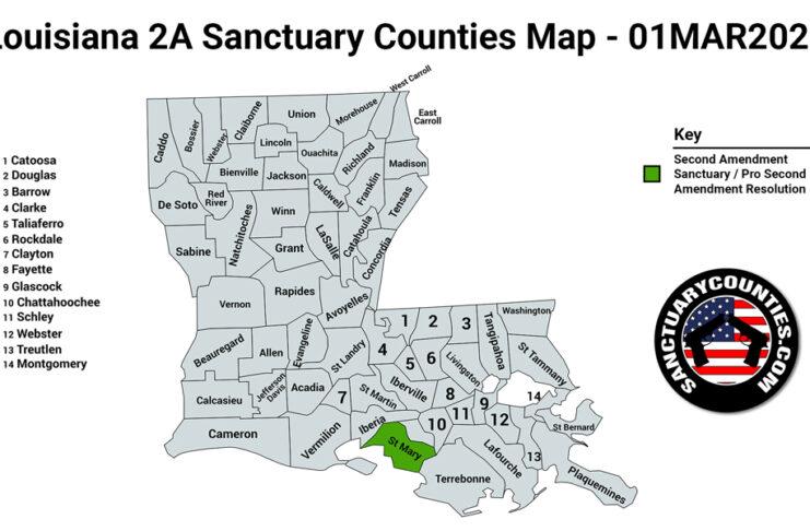 Louisiana Second Amendment Sanctuary State Map