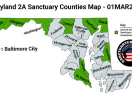 Maryland Second Amendment Sanctuary State Map
