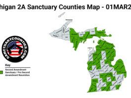 Michigan Second Amendment Sanctuary State Map
