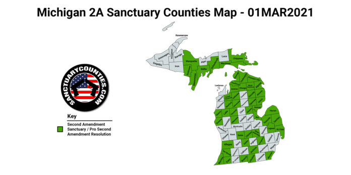 Michigan Second Amendment Sanctuary State Map