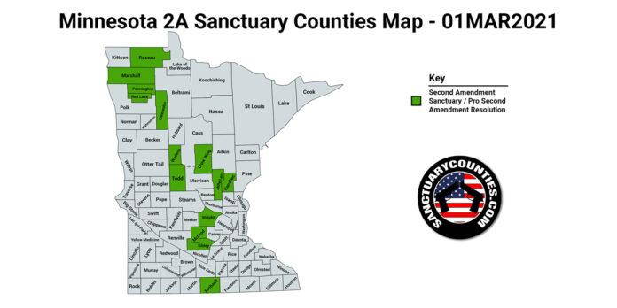 Minnesota Second Amendment Sanctuary State Map