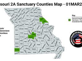 Missouri Second Amendment Sanctuary State Map