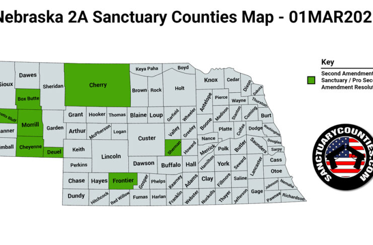 Nebraska Second Amendment Sanctuary State Map