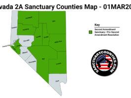 Nevada Second Amendment Sanctuary State Map