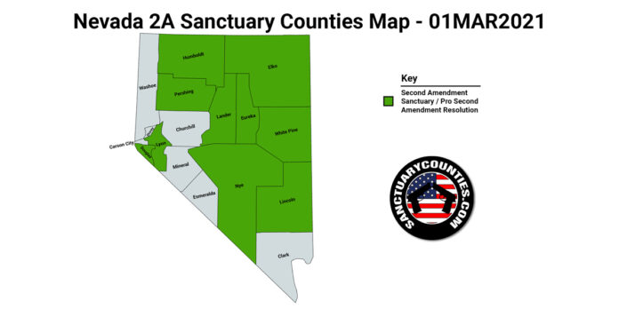 Nevada Second Amendment Sanctuary State Map