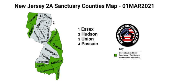 New Jersey Second Amendment Sanctuary State Map