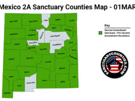 New Mexico Second Amendment Sanctuary State Map