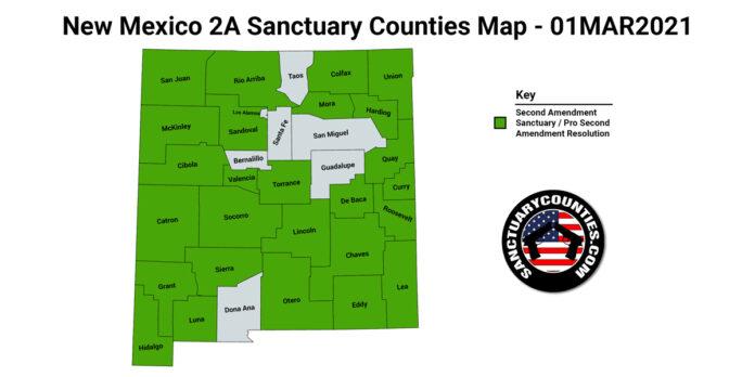 New Mexico Second Amendment Sanctuary State Map