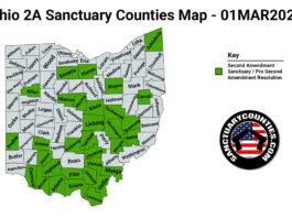 Ohio Second Amendment Sanctuary State Map