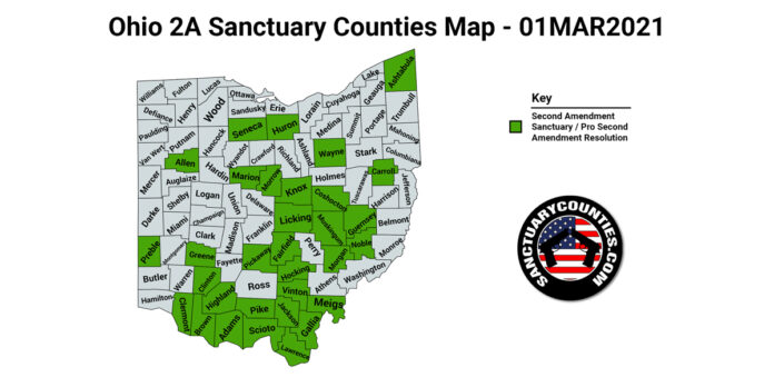 Ohio Second Amendment Sanctuary State Map