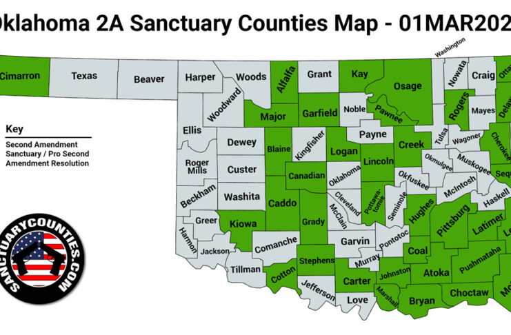 Oklahoma Second Amendment Sanctuary State Map