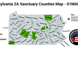 Pennsylvania Second Amendment Sanctuary State Map