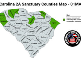 South Carolina Second Amendment Sanctuary State Map