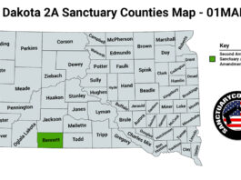 South Dakota Second Amendment Sanctuary State Map