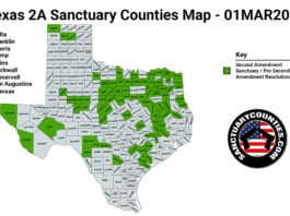 Texas Second Amendment Sanctuary State Map