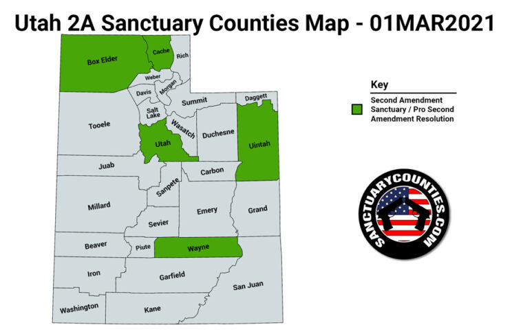 Utah Second Amendment Sanctuary State Map
