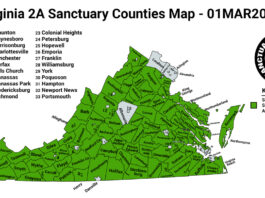 Virginia Second Amendment Sanctuary State Map