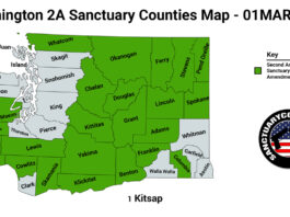 Washington Second Amendment Sanctuary State Map