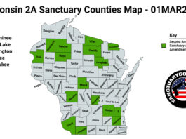 Wisconsin Second Amendment Sanctuary State Map