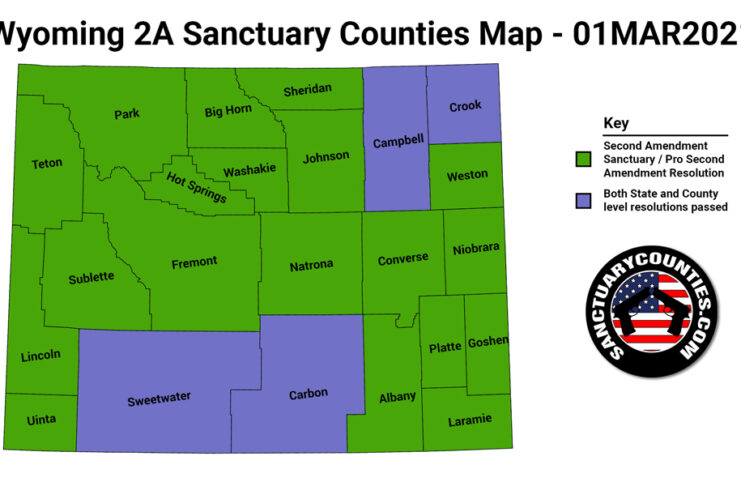 Wyoming Second Amendment Sanctuary State Map