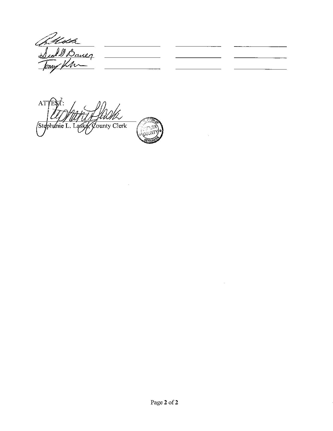 Butler Nebraska Resolution Page 2
