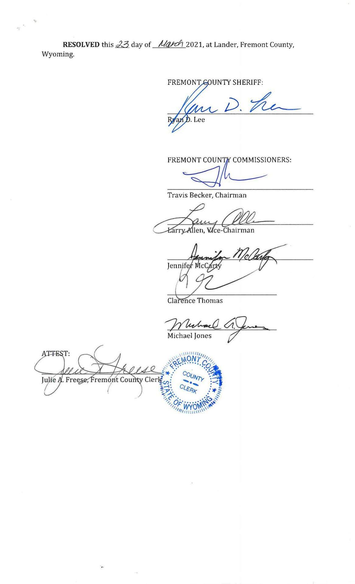 RES-2021-11 Second Amendment Sanctuary Fremont Wyoming page 2