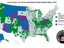 Second Amendment Sanctuary National Map 06MAY2021