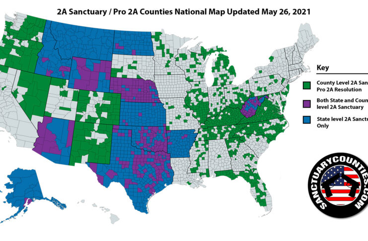 2A Sanctuary Counties National Map for 26MAY2021