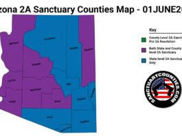 Arizona Second Amendment Sanctuary Updated Map June 01 2021