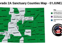 Colorado Second Amendment Sanctuary Updated Map June 01 2021