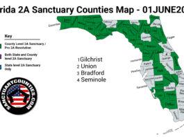 Florida Second Amendment Sanctuary Updated Map June 01 2021